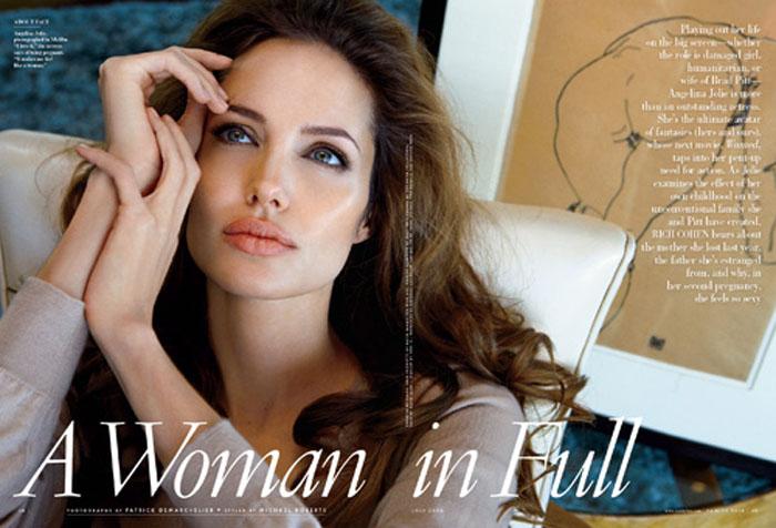 Angelina Jolie, a mulher mais bela do mundo, segundo leitores da  Vanity Fair