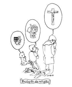 Evolução da religião, vocação religiosa. O objeto ou objetos de culto evoluem um pouco durante a vida