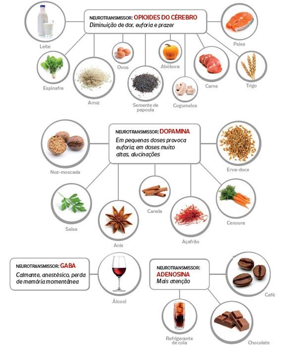 Os alimentos e seus efeitos sobre nossas sensações